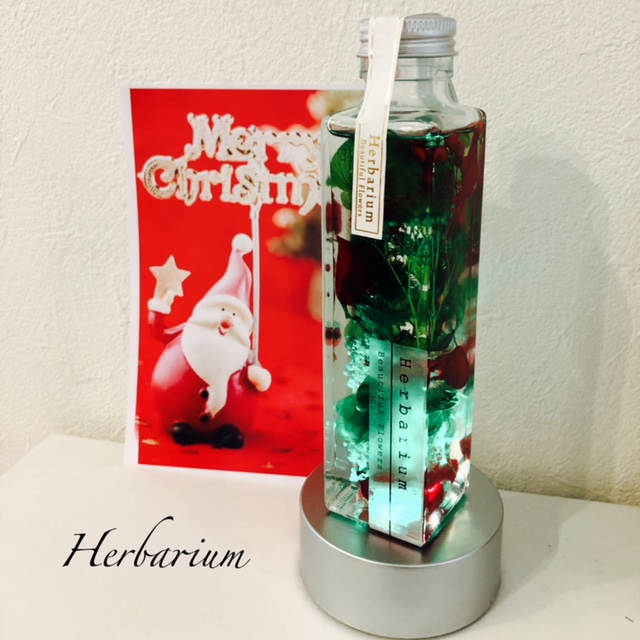 ハーバリウムクリスマス